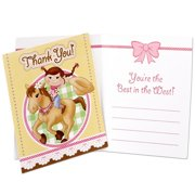 Pink Cowgirl Thank-You Notes, 8pk