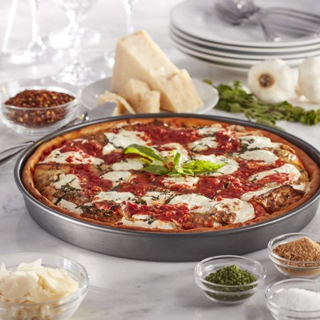 Item is Chicago Metallic 14-Inch Nonstick Deep Dish Pizza