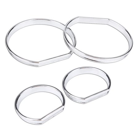 HURRISE 4pcs Car Front Dashboard Speedometer Gauge Decoration Frame Dial Rings Trim for BMW E46 , Speedometer Gauge Frame Trim, Dashboard Frame - image 1 of 8