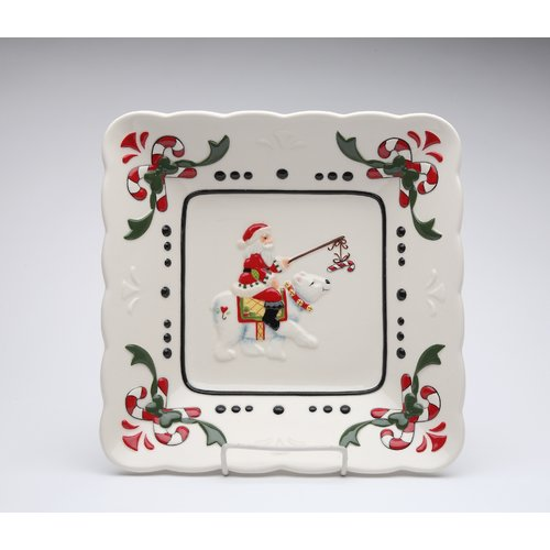 Cosmos Gifts Santa 10'' Plate Fig