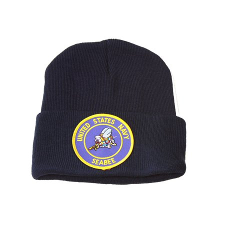 Manchester United Beanie (Delux 3D Embroidery Law Enforcement Beanie United States Navy Seabees, Navy )