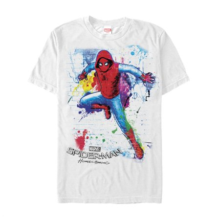 Marvel Men's Spider-Man Homecoming Paint Splatter T-Shirt (Spiderman Suits For Sale)