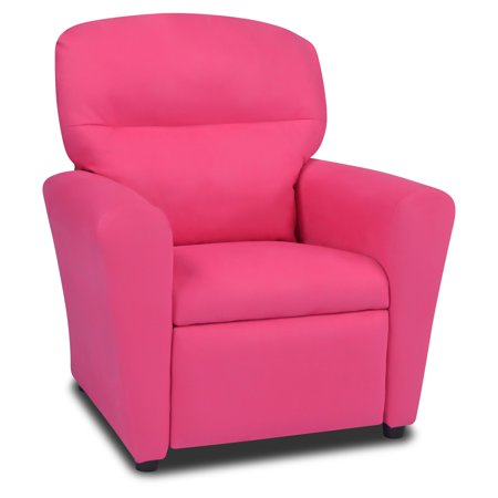 totally tween recliner passion pink suede