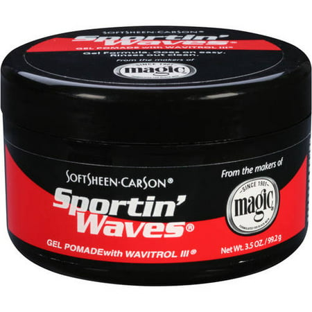 Sport In Waves Pomade ((2 Pack) SoftSheen-Carson Sportin' Waves Gel Pomade with Wavitrol III )