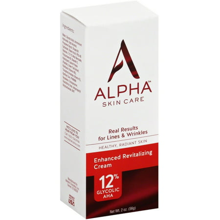 Alpha Hydrox Skin Care Enhanced Revitalizing Cream 12  Glycolic Aha 2 Oz