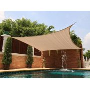 New Premium Clevr Sun Shade Canopy Sail 18'x18' Square UV Top Outdoor Patio Sand