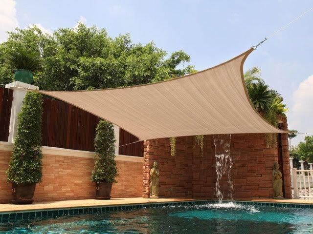 New Premium Clevr Sun Shade Canopy Sail 12u0027x12u0027 Square UV Top Outdoor Patio