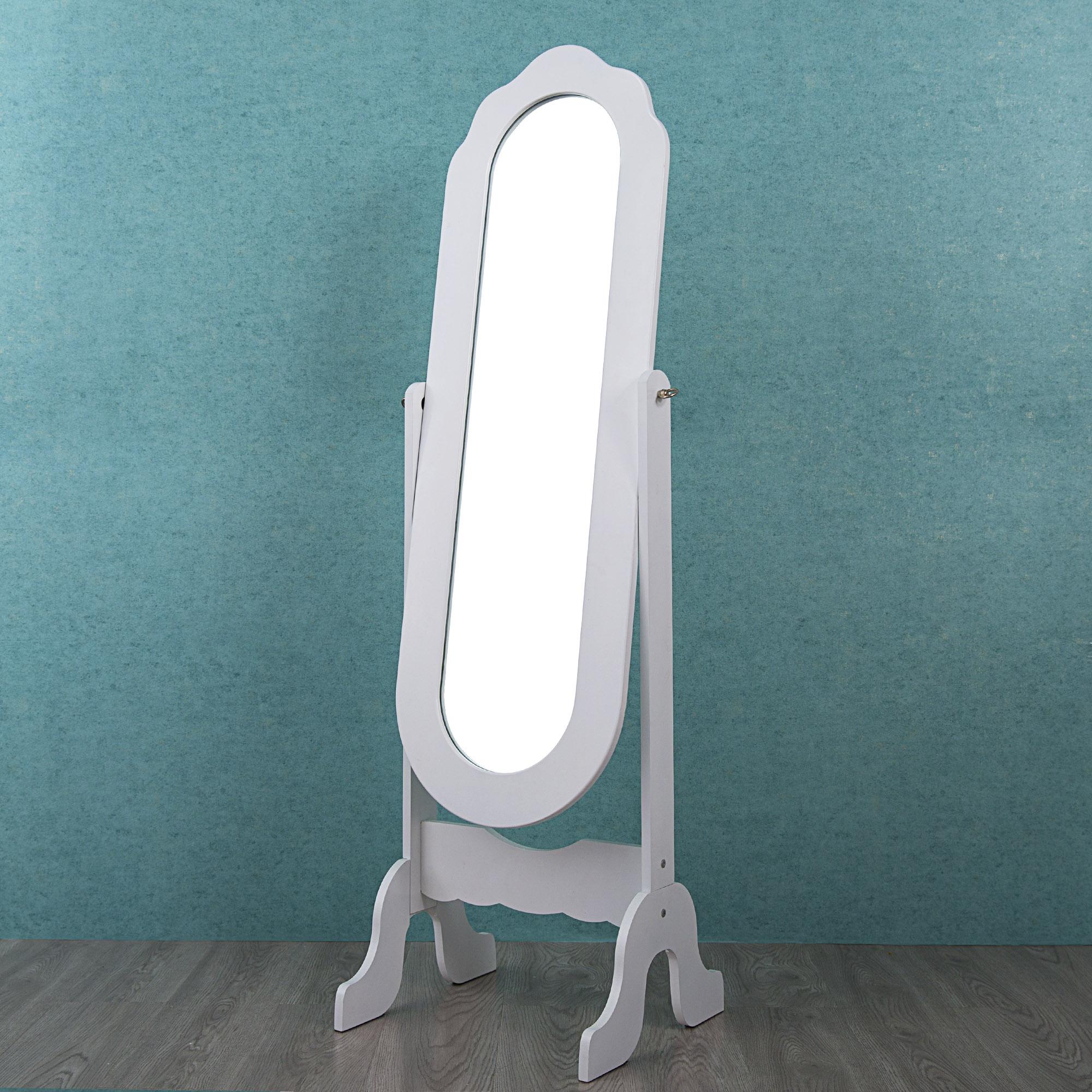Cloud Mountain Dressing Mirror Cheval Style Full Length Rectangular Mirror Bedroom Floor Mirror Adjustable Tilt, White by Cloud Mountain