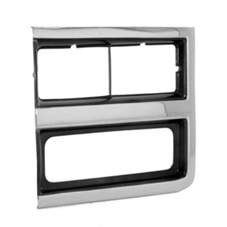 Chevy Pickup Door - Chrome Left Headlamp Door for Chevy Blazer, Pickup, Suburban GM2512161
