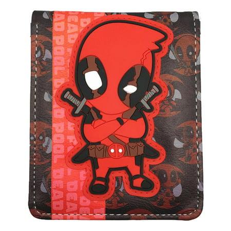Marvel Deadpool Chibi Mens Boys Wallet w/Gift box By Superheroes - Boys Wallets