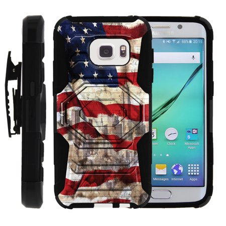 the best attitude aeb85 faf09 Samsung Galaxy S7 Case | S7 Phone Case [SM-G930] [ Armor Reloaded ] Rugged  Cell Phone Case with Kickstand + Belt Clip - American Flag NY