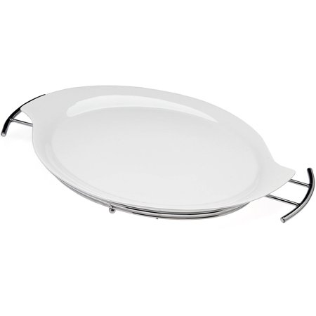 Generic Natural Oval Serving Tray Handled On Rack ()