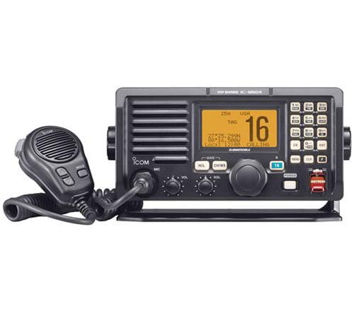 M604A VHF Radio Hailer RX Repeat Fog Horn 30W Black by Icom