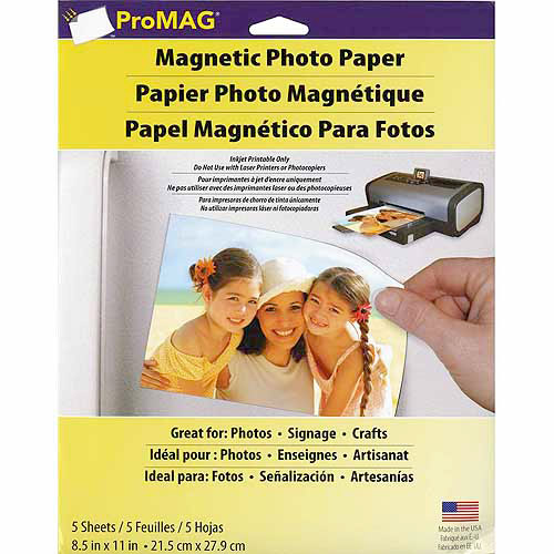 "Magnum Magnetics Promag Magnetic Photo Papers, 5pk, 8-1/2"" x 11"""
