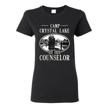 Ladies Camp Crystal Lake Counselor 1935 Summer TV Parody Funny DT T-Shirt Tee](Camp Crystal Lake)