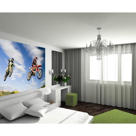Startonight Mural Wall Art Motocross Jump in my Bedroom Illuminated ...