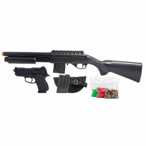 mossberg full stock spring airsoft shotgun kit with spring