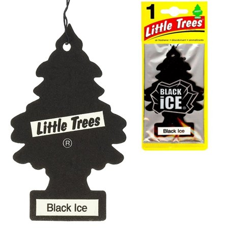 Three Scents (6 Little Trees Black Ice Scent Air Freshener Car Auto Pack Home Hanging)