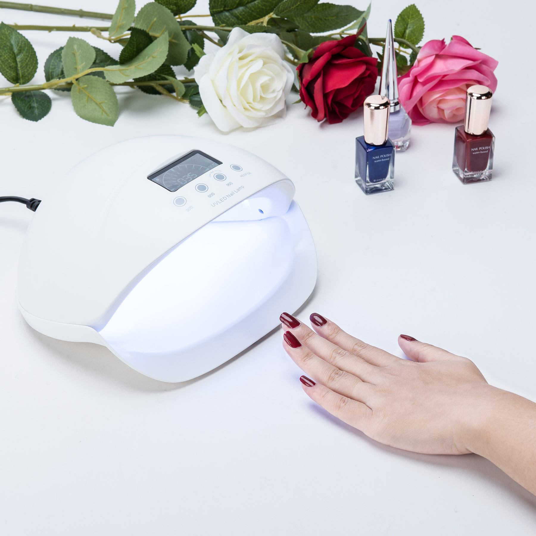 50W LED UV Lamp Nail Dryer Super Quick Curing with LCD Display Manicure Salon Tool for Gel Nail Polish with Infrared Sensor