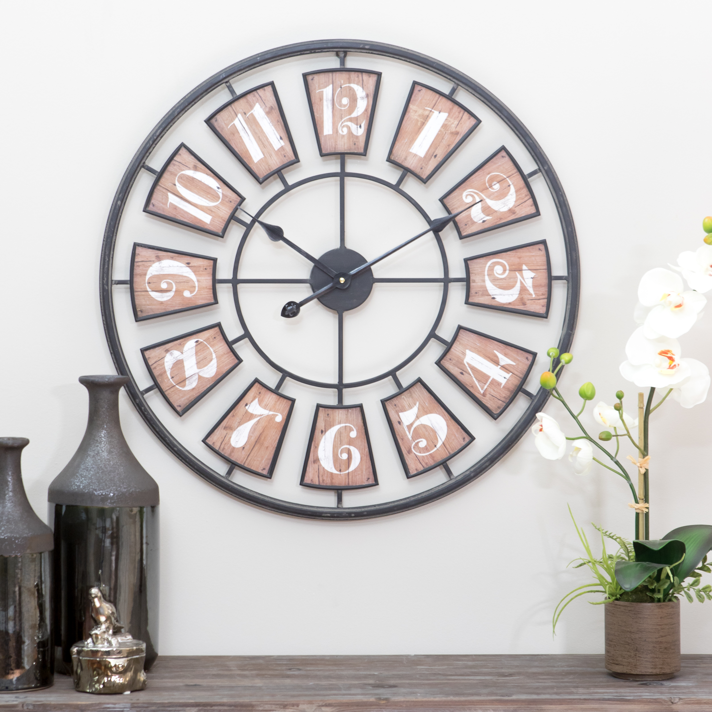 Matthews Large Metal Wall Clock