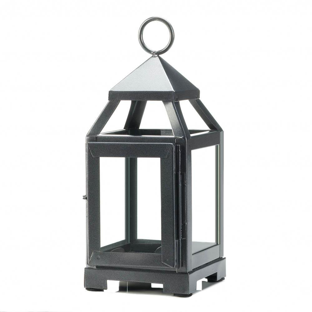 Lantern Candle, Decorative Outdoor Patio Rustic Mini Metal Candle Lantern Holder (Sold by Case, Pack of 12)