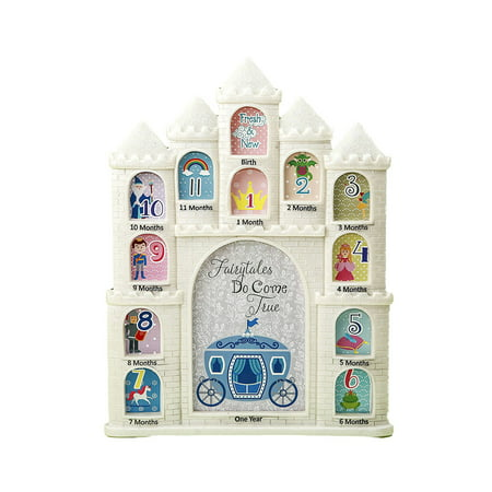 Children Come Frame - Nursery Decor Mozlly White Fairytales Do Come True Castle Baby First Year Collage Photo Frame