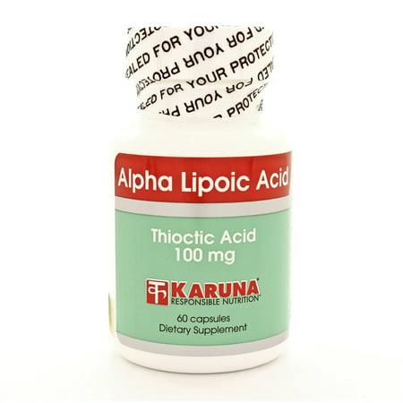 Karuna Nutrition - alfa lipoico 60 cápsulas