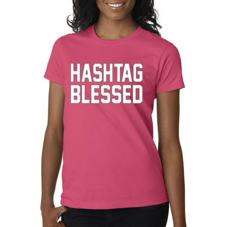 New Way 395 - Women's T-Shirt Hashtag Blessed Meme Kanye Drake - Drake As Kanye For Halloween