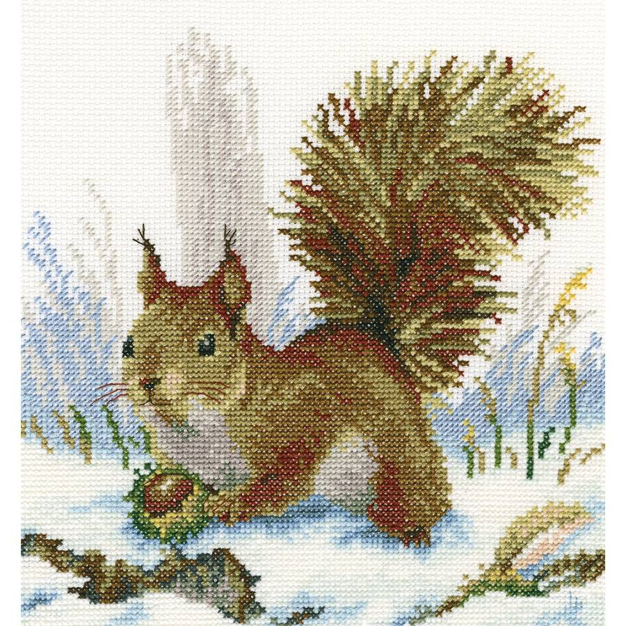 "Winter Morning Counted Cross Stitch Kit, 8.75"" x 8"", 14-Count"