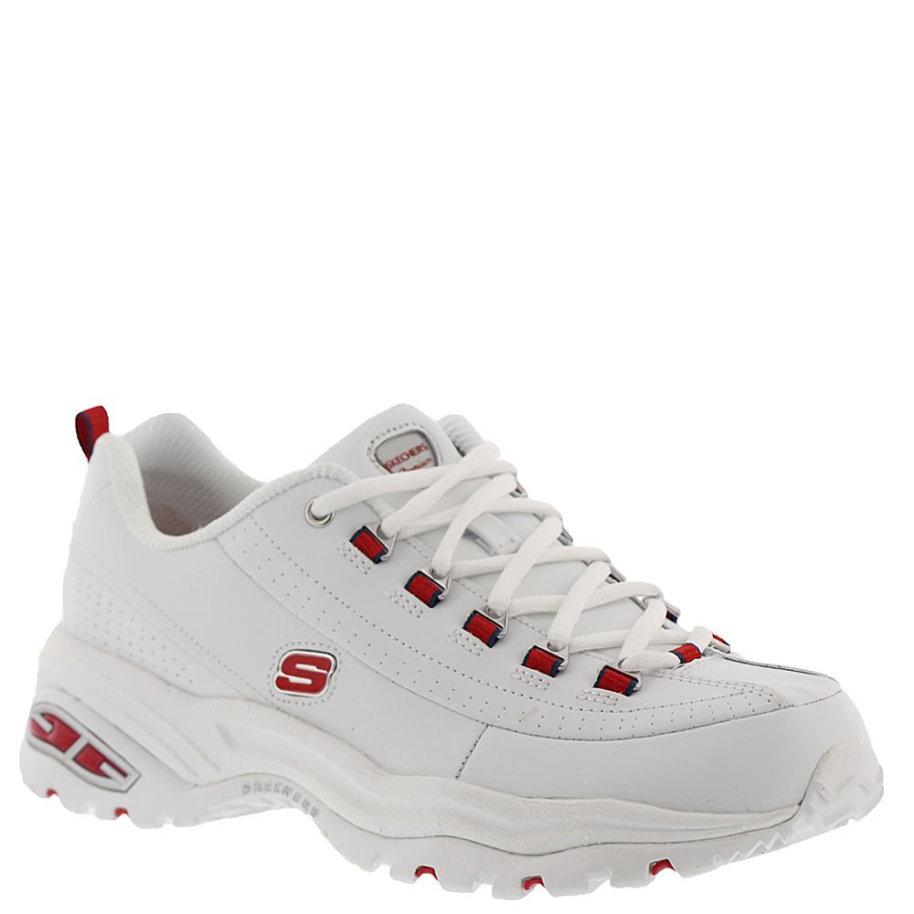 Skechers 12491-WRD: Sport Premium Seeing Double Women's White Red Sneaker by Skechers