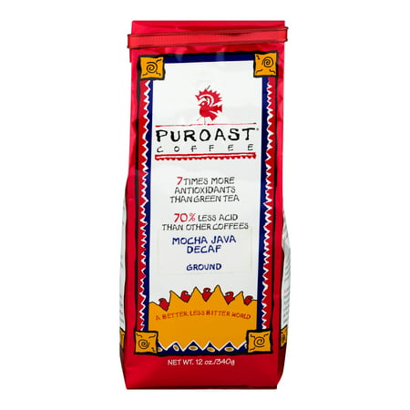 Puroast Coffee Ground Mocha Java Decaf, 12.0 OZ - Walmart.com