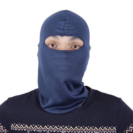 Motorcycle Full Face Mask Cover Neck Protecting Balaclava Hood Cap Dark Blue