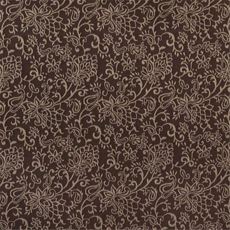 Contemporary Floral Fabric - Designer Fabrics B603 54 in. Wide Brown, Contemporary Floral Jacquard Woven Upholstery Fabric