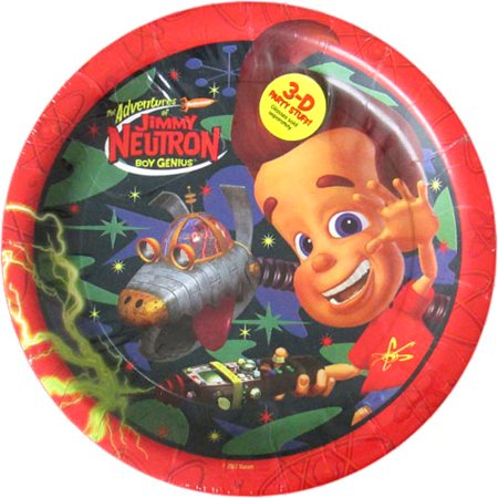 Jimmy Neutron Large Paper Plates (8ct) - Jimmy Neutron Party