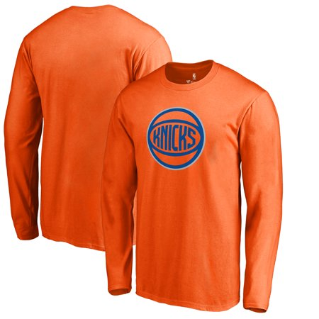 new product fb632 c5130 New York Knicks Fanatics Branded Alternate Logo Long Sleeve T-Shirt - Orange