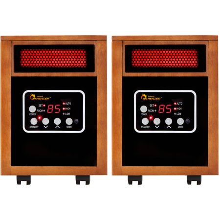 Dr. Infrared Heater DR-968-2 Portable Space Heater, 2-Pack, 1500W