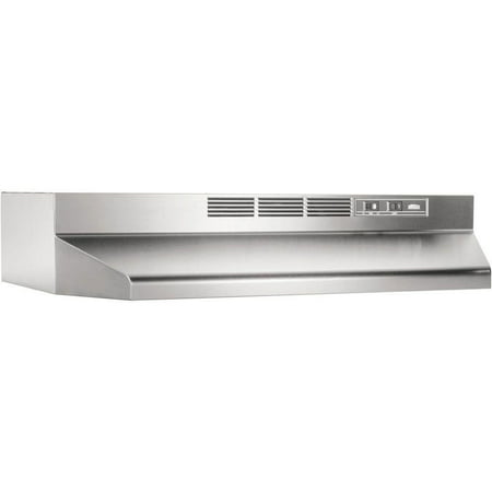 Chimney Style Range Hoods - Broan 30 Inch Stainless Steel ADA Capable Non Ducted Under Cabinet Range Hood