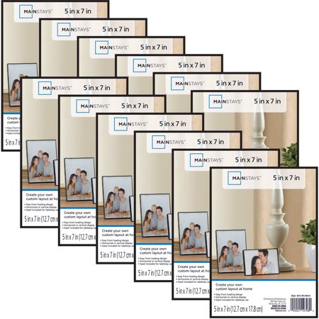 Mainstays 5 X 7 Format Picture Frame Black Set Of 12