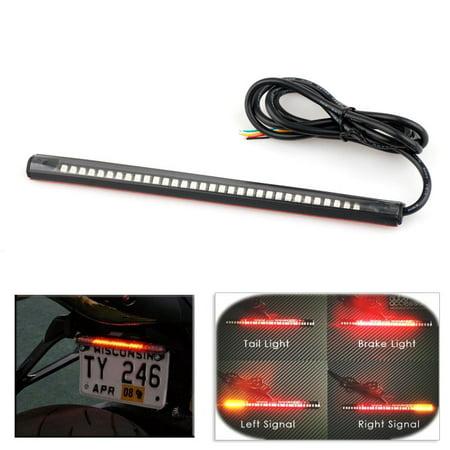 Universal Motorcycle 32LED Tail Brake Stop Turn Signal Integrated 3528 Led Light (Motorcycle Integrated Tail Lights)