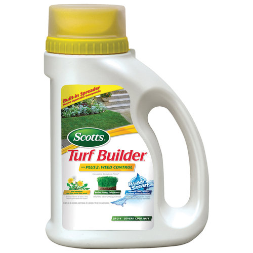 Scotts Turf Builder with Plus 2 Weed Control and Built-In Spreader
