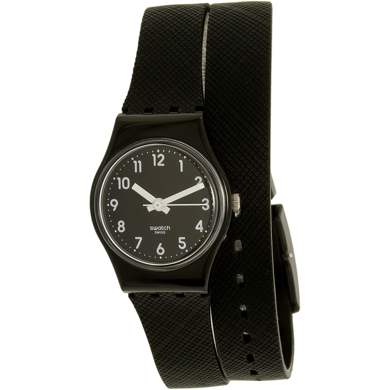 Swatch Women's Lady LB170D Black Silicone Swiss Quartz Watch