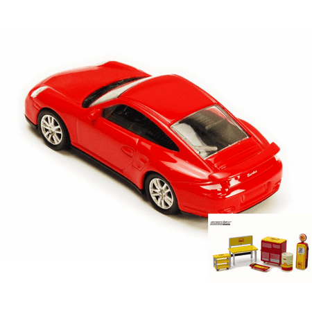 Diecast Car Shop Tools Package Porsche 911 Turbo Red Rmz City