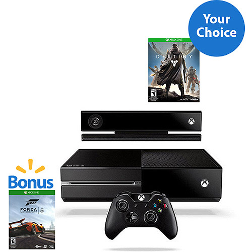 Xbox One + Kinect Console w/ Forza 5 Download and Choice of Game- $89 Savings!
