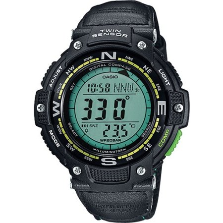 Men's Twin Sensor Compass Watch, Green Nylon Strap ()