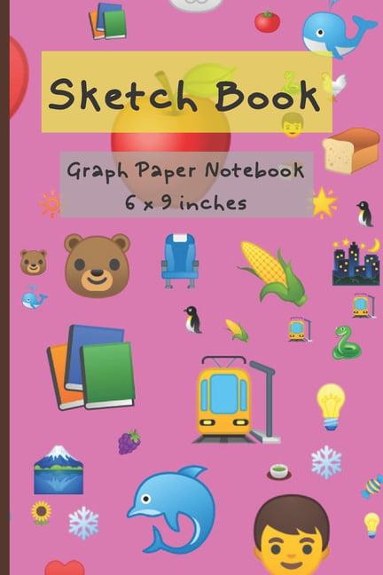 sketch book   graph paper notebook - walmart com