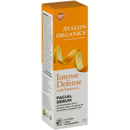Avalon Organics Intense Defense with Vitamin C Facial Serum 1 (Avalon Organics Coq10 Wrinkle Defense Serum)