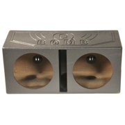 "QPower QBOMB15V Dual 15"" Vented Port Subwoofer Sub Box w/ Bedliner Spray"