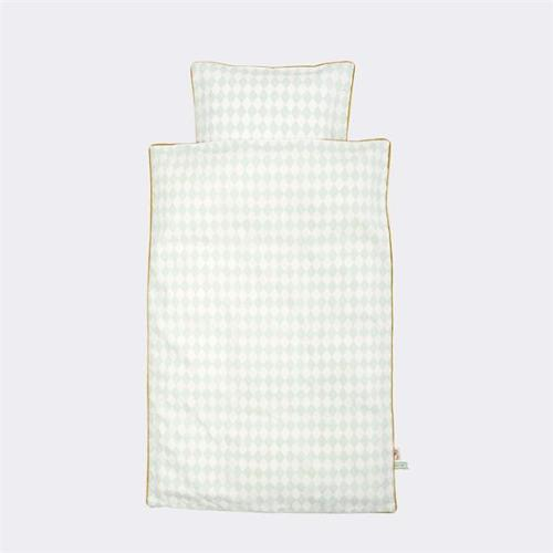 FERM LIVING 8047 BedtimeStories - Harlequin Bedding Mint - Baby 70x100 cm