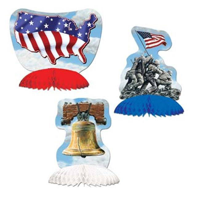 Beistle - 50979 - Patriotic Playmates- Pack of 12