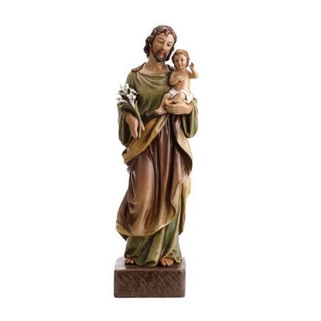CB Catholic WC061 22 in. VG St. Joseph & Child Figurine